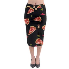 Pizza Slice Patter Midi Pencil Skirt by Valentinaart