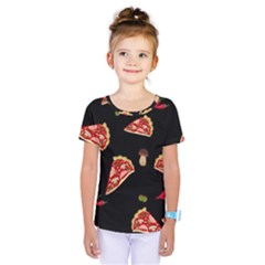 Pizza slice patter Kids  One Piece Tee