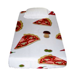 Pizza Pattern Fitted Sheet (single Size) by Valentinaart