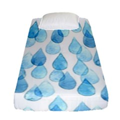 Rain Drops Fitted Sheet (single Size) by Brittlevirginclothing