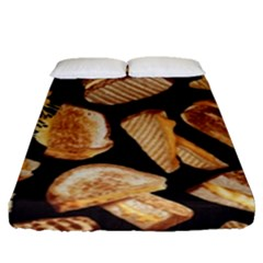 Delicious Snacks Fitted Sheet (queen Size) by Brittlevirginclothing