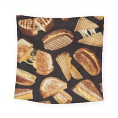 Delicious Snacks Square Tapestry (small) by Brittlevirginclothing