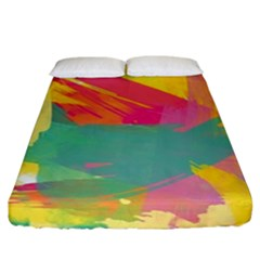 Paint Brush Fitted Sheet (california King Size) by Brittlevirginclothing