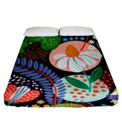 Japanese Inspired Fitted Sheet (queen Size) by Brittlevirginclothing