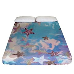 Pastel Stars Fitted Sheet (queen Size)