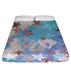 Pastel Stars Fitted Sheet (california King Size) by Brittlevirginclothing