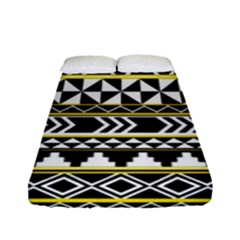 Black Bohemian Fitted Sheet (full/ Double Size) by Brittlevirginclothing