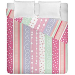 Pink Wood Duvet Cover Double Side (california King Size) by Brittlevirginclothing