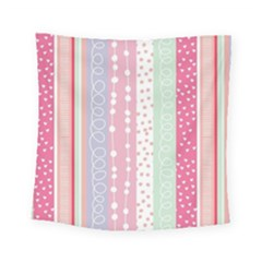 Pink Wood Square Tapestry (small) by Brittlevirginclothing