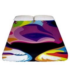 Colorful Lion Fitted Sheet (king Size) by Brittlevirginclothing