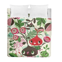 Cute Cartoon Duvet Cover Double Side (full/ Double Size) by Brittlevirginclothing