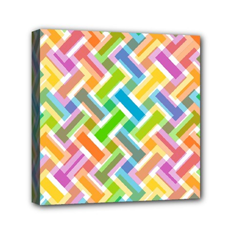 Abstract Pattern Colorful Wallpaper Mini Canvas 6  X 6  by Amaryn4rt