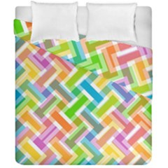 Abstract Pattern Colorful Wallpaper Duvet Cover Double Side (california King Size) by Amaryn4rt