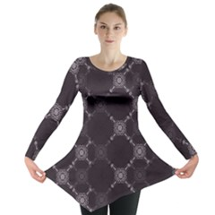 Abstract Seamless Pattern Long Sleeve Tunic  by Amaryn4rt