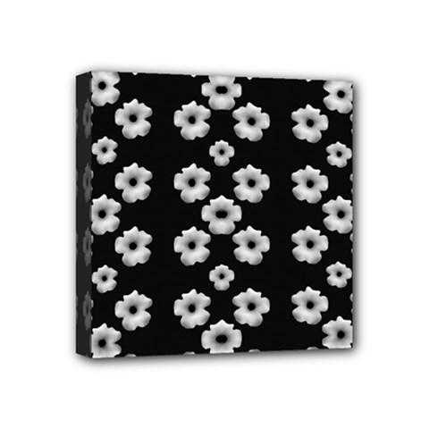 Dark Floral Mini Canvas 4  X 4  by dflcprints