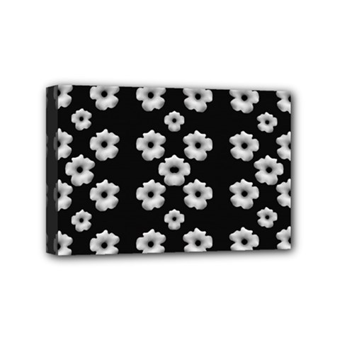 Dark Floral Mini Canvas 6  X 4  by dflcprints