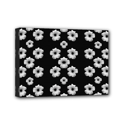 Dark Floral Mini Canvas 7  X 5  by dflcprints