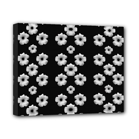 Dark Floral Canvas 10  X 8  by dflcprints