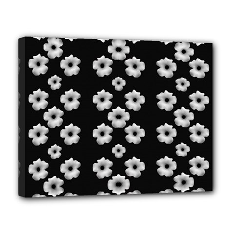 Dark Floral Canvas 14  X 11  by dflcprints
