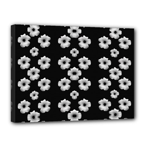 Dark Floral Canvas 16  X 12  by dflcprints
