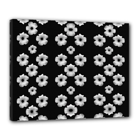 Dark Floral Canvas 20  X 16  by dflcprints