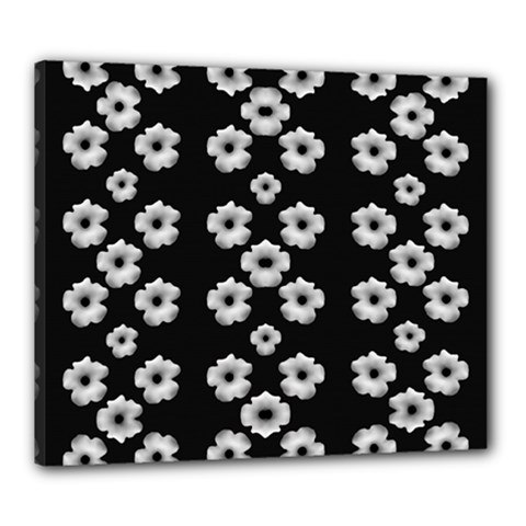 Dark Floral Canvas 24  X 20  by dflcprints