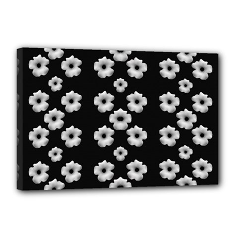 Dark Floral Canvas 18  X 12  by dflcprints