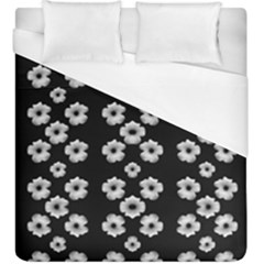 Dark Floral Duvet Cover (king Size) by dflcprints