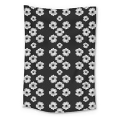 Dark Floral Large Tapestry by dflcprints