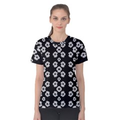 Dark Floral Women s Cotton Tee by dflcprintsclothing