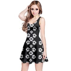 Dark Floral Reversible Sleeveless Dress by dflcprintsclothing