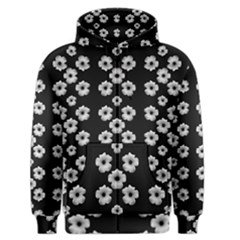 Dark Floral Men s Zipper Hoodie by dflcprintsclothing