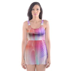 Background Nebulous Fog Rings Skater Dress Swimsuit