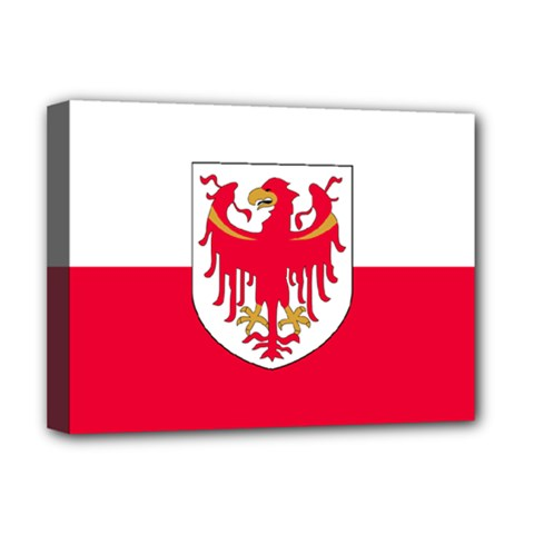 Flag Of South Tyrol Deluxe Canvas 16  X 12   by abbeyz71