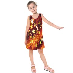 Background Pattern Lines Oval Kids  Sleeveless Dress by Amaryn4rt
