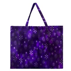 Bokeh Background Texture Stars Zipper Large Tote Bag by Amaryn4rt