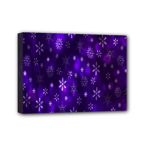 Bokeh Background Texture Stars Mini Canvas 7  X 5  by Amaryn4rt