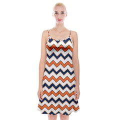 Chevron Party Pattern Stripes Spaghetti Strap Velvet Dress