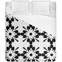 Floral Illustration Black And White Duvet Cover (california King Size) by Amaryn4rt
