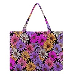 Floral Pattern Medium Tote Bag by Amaryn4rt
