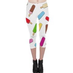 Ice Cream Pattern Capri Leggings