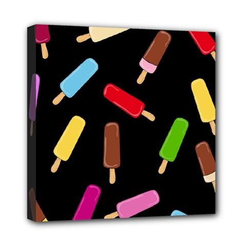 Decorative Ice Cream Pattern Mini Canvas 8  X 8  by Valentinaart