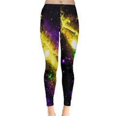 Galaxy Deep Space Space Universe Stars Nebula Leggings  by Amaryn4rt