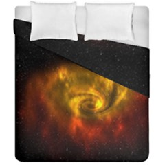 Galaxy Nebula Space Cosmos Universe Fantasy Duvet Cover Double Side (california King Size) by Amaryn4rt