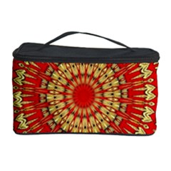 Gold And Red Mandala Cosmetic Storage Case by Amaryn4rt