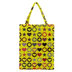 Heart Circle Star Seamless Pattern Classic Tote Bag by Amaryn4rt