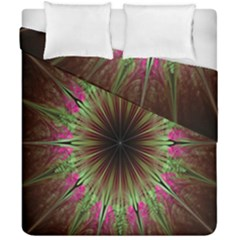 Julian Star Star Fun Green Violet Duvet Cover Double Side (california King Size) by Amaryn4rt