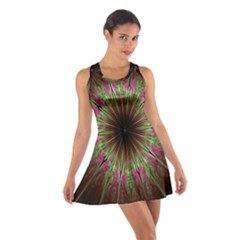 Julian Star Star Fun Green Violet Cotton Racerback Dress