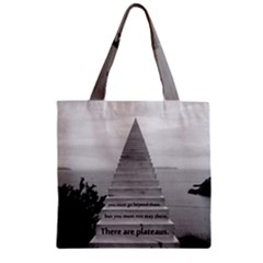 Steps To Success Follow Zipper Grocery Tote Bag by FrontlineS