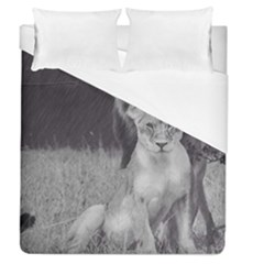 King and Queen of the jungle design  Duvet Cover (Queen Size) by FrontlineS